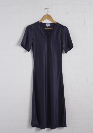 TweedySmith Ali Dress in Navy Satin