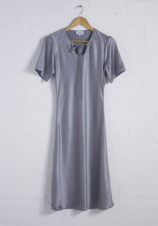 TweedySmith Ali Dress in Silver Satin