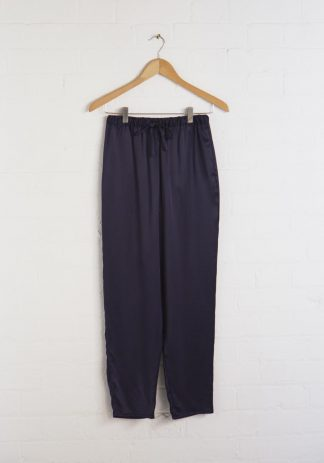 TweedySmith Audrey Pants in Navy Satin