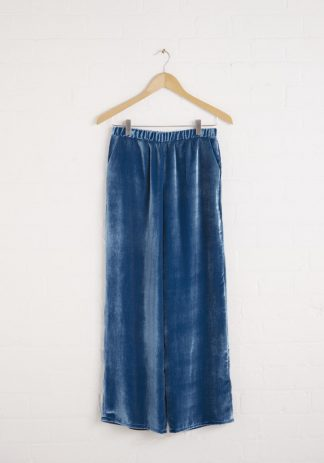 TweedySmith Brodie Pants in Peacock Blue Velvet