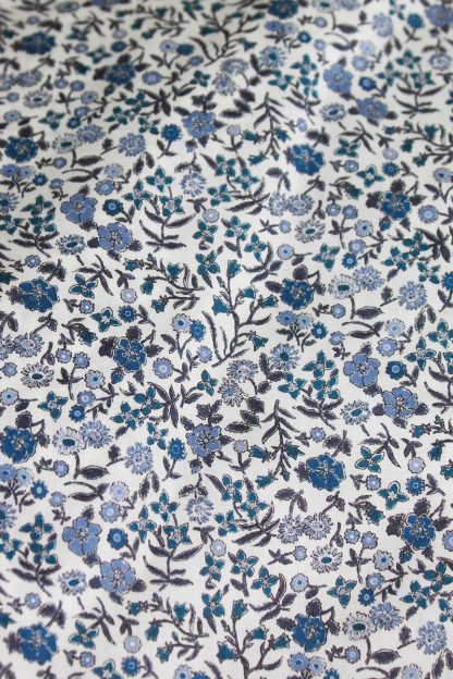 TweedySmith Blue Floral Liberty Print fabric
