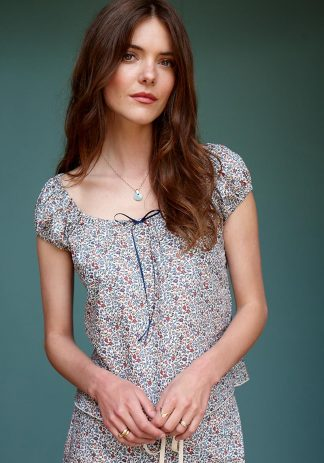 Gracie Top in Multicoloured Floral