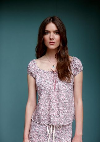 Gracie Top in Pink Floral