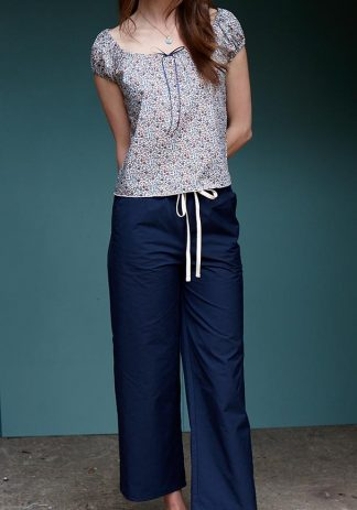 Ingalls Pants in Navy Cotton