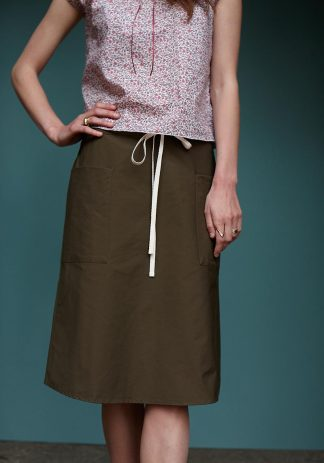 Mary Skirt in Khaki Cotton