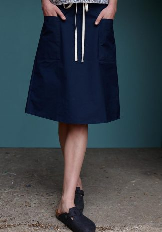 Mary Skirt in Navy Cotton