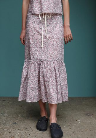 Prairie Skirt in Pink Floral